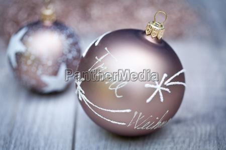 blue silver christmas ornament
