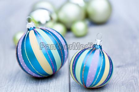 festive shiny christmas balls decoration in