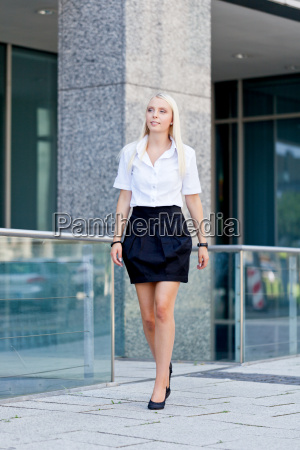 young successful businesswoman in the summer