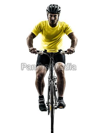 mann radfahren mountainbike silhouette