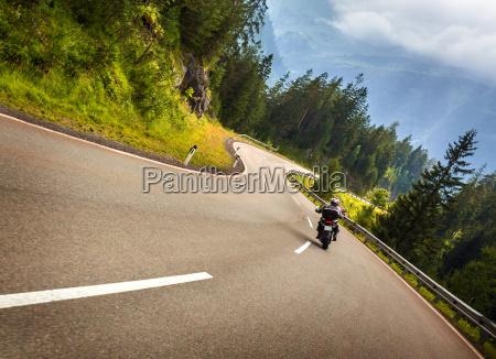 biker in austrian mountains