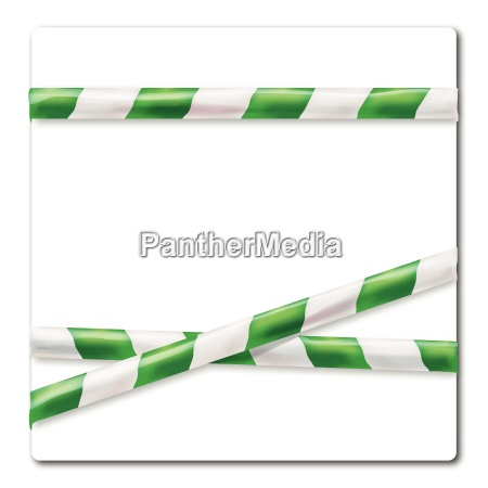 streamer green and white