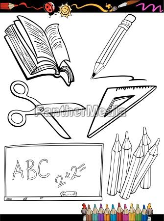 karikatur schule objekte malvorlagen - Lizenzfreies Foto - #9921076 ...