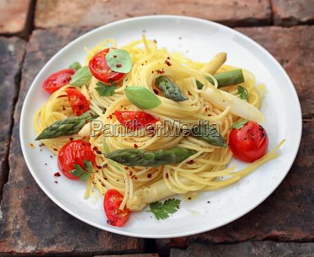spargel spaghetti nudeln
