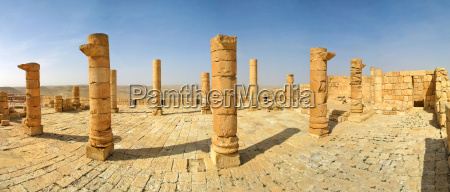 columns and ancient ruins of old