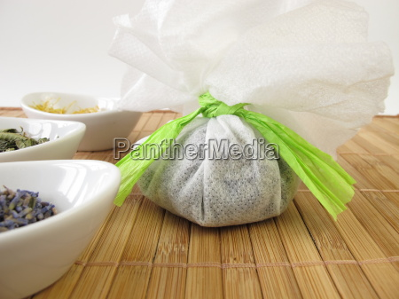 bathing bag with herbs