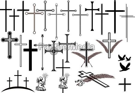 kreuze und andere trauersymbole