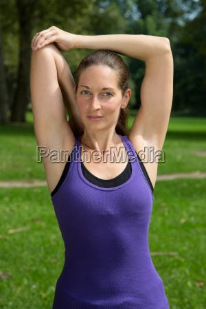 warm up und stretchen