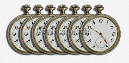 sieben taschenuhren
