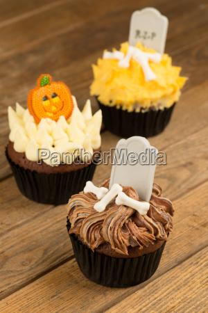 bunt halloween cupcakes nahaufnahme