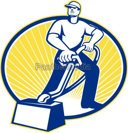 teppich-reiniger, staubsauger, maschine, retro - 10032078