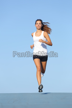 front view of a beautiful sportswoman