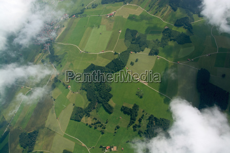 aerial view alpenvorland