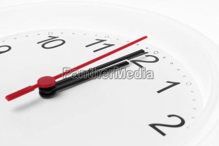 clock time running to midnight