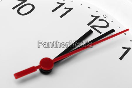 clock face time running