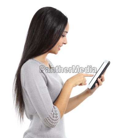 frau gesellschaftlich sozial araber tablette grasend
