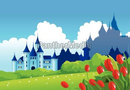 castle on green landscape