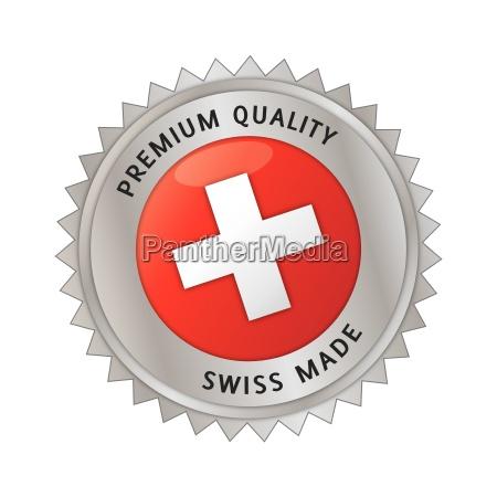 swissmade made in switzerland siegel button