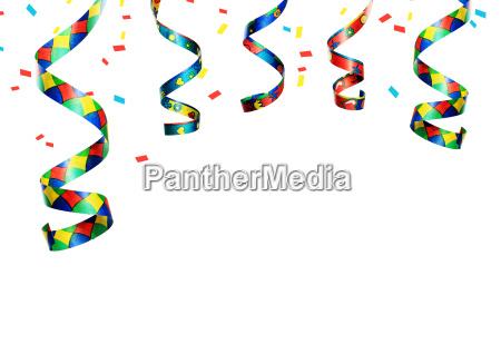 luftschlangen partydekoration