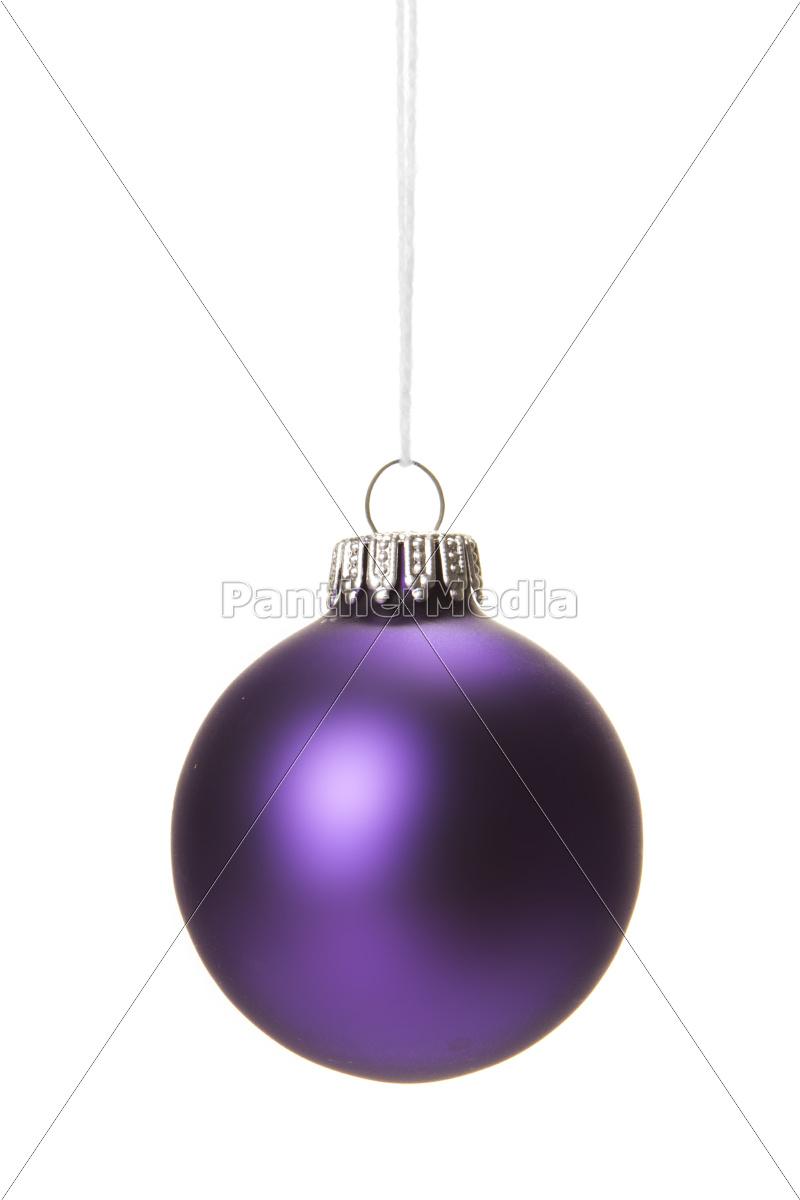 Christbaumkugeln Violett.Stockfoto 10098882 Violette Christbaumkugeln Isoliert