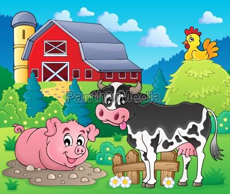 farm animals theme image 1