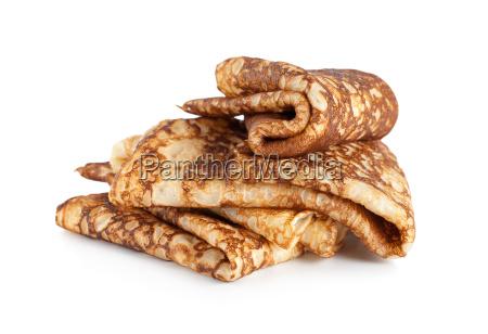 gefalelte, pfannkuchen, isoliert - 10115869