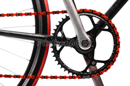 rote fahrradkette