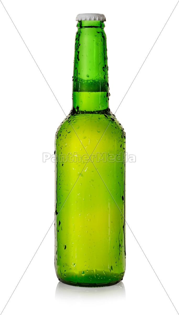 bier, in, einer, grünen, flasche - 10122281
