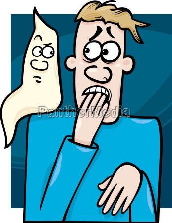 man and ghost cartoon illustration