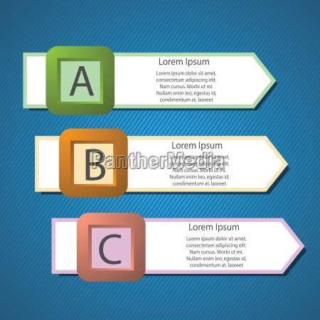 infografik pfeile struktur