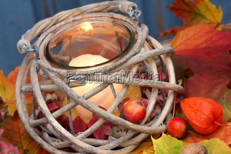 colored autumn wind light in autumn
