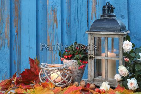 kernzenlicht evening with autumn leaves