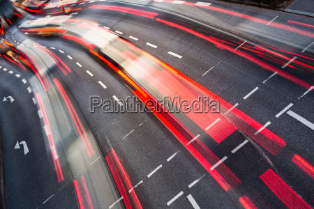 bewegung verwischt stadt strassenverkehr