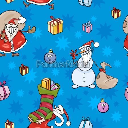 weihnachten cartoon nahtlose muster design