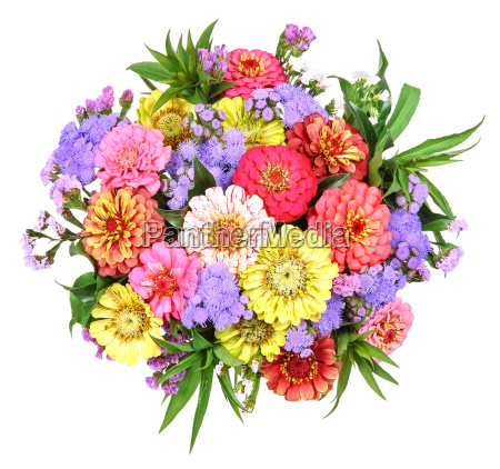 colored garden bouquet