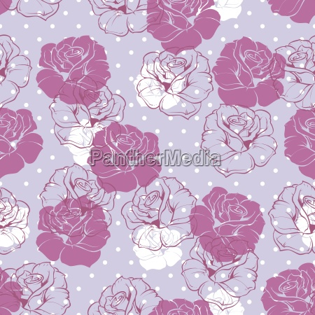 seamless vector floral pattern with violet