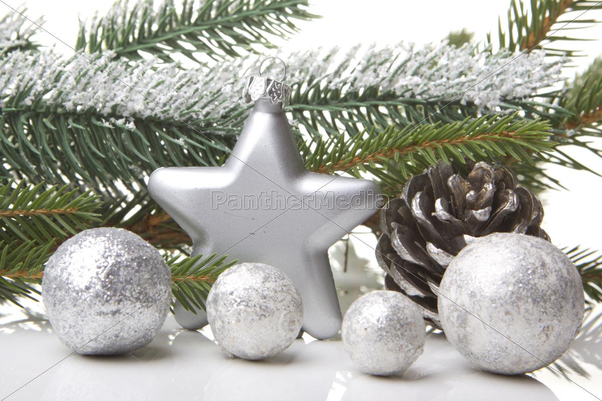 Weihnachten dekoration mit tannenzweig tannenzapfen stockfoto 10168479 bildagentur - Weihnachten dekoration ...
