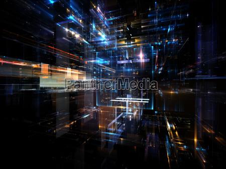 conceptual fractal metropolis