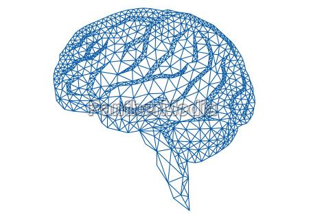 brain with geometric pattern