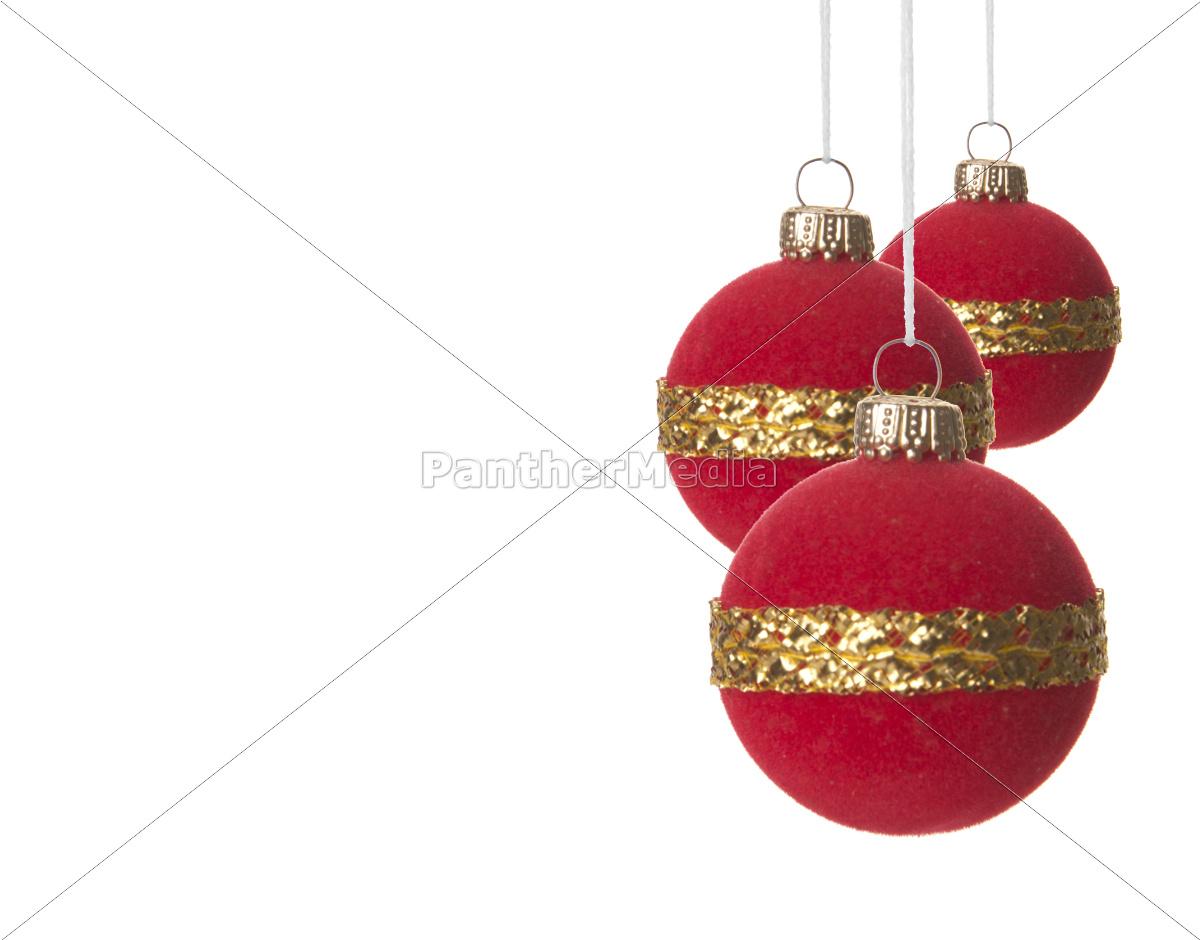 weihnachten weihnachtskugeln rot und gold lizenzfreies. Black Bedroom Furniture Sets. Home Design Ideas