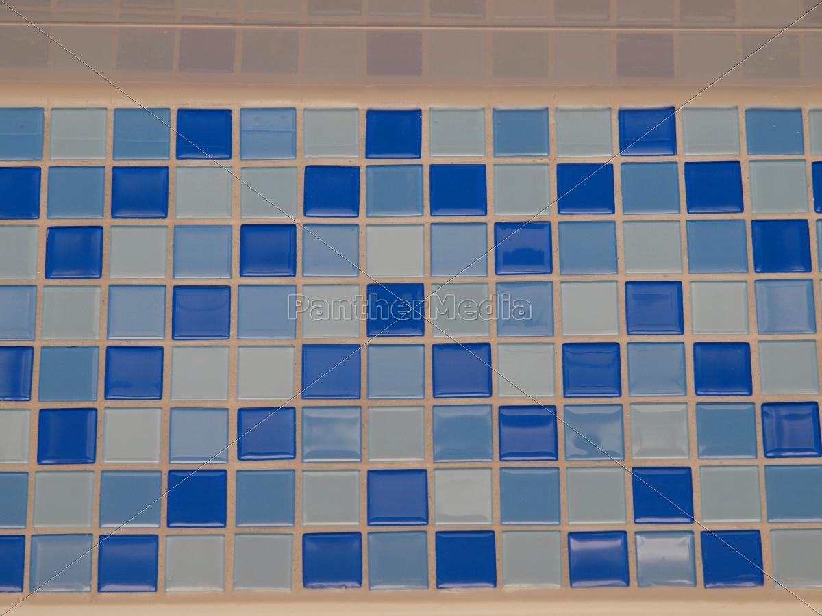 Badezimmer Hellblau | Blau Bad Fliessen Pool Quadrat Hellblau Schwimmbad Lizenzfreies