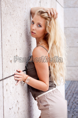 young attractive blonde woman with a