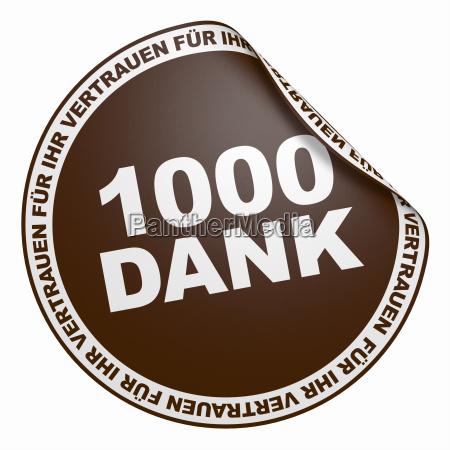3d sticker dark brown 1000