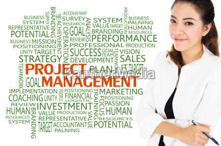 projektmanagement fuer business konzept