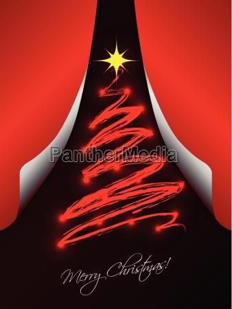 weihnachtskarte mit klapppapiere