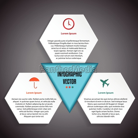 infographic design with various symbols and