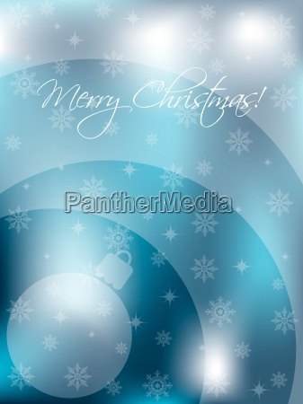 christmas card design with decoration and