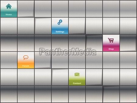 website template design with metallic background