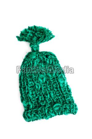 gruene strickmuetze wooly hat