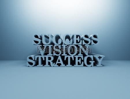 business success 3d text
